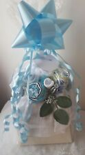 Beautiful Baby Clothing Bouquet 3-6 Boy baby shower maternity gift White Blue