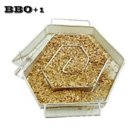 Hexagon Cold Smoke Generator Steel BBQ Smoker Box Grill Cook Tool for Bacon Fish