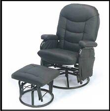 Breast Feeding Carson Glider Rocking Rocker Chair and footstool in Black