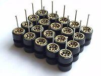 Comold TOYO gold long axle tires fit 1:64 Hot Wheels Matchbox diecast -10 sets