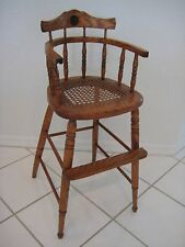 Cane Seat Small High Chair (Youth Chair), Great Condition!