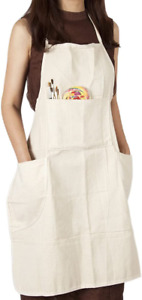 Apron Bib Dress Pocket Fashion Artist Craft Home Studio Painting Garden Kitchen