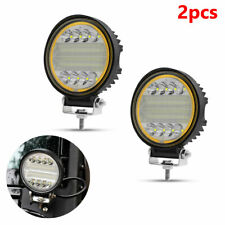 Pair 6000K LED Work Light Fog Lamp Truck Off-Road 4x4 Tractor Flood Lights