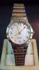 Nice ladies MZ Berger MOP mother of pearl look dial gold tone quartz watch