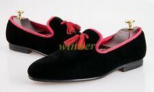 2020 Mens NEW Velvet Loafers Slip on Slippers Rope Tassels Shoes Size