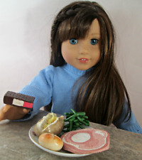 AG Doll Miniature Ham and Green Bean Dinner with Ice Cream Sandwich