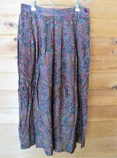 "Vintage Gathered PAISLEY SKIRT,Rayon,ASHLEY BROOKE,Women 8 Petite,29 1/2""Long"