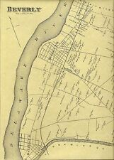 Beverly Edgewater Park Delanco NJ 1876  Maps with Homeowners Names Shown