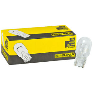 10x BREHMA W21W 12V 21W W3x16d Tagfahrlicht Lampen Glühlampe Glühbirne