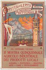 CARTOLINA d'Epoca - PUBBLICITARIA : Lecco 1927 - MOSTRA PRODOTTI LOCALI