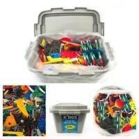 "Knex Assorted Lot with Gray Box Case 16""x11"" 5+lbs of K'NEX"