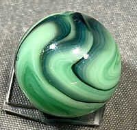 """Ravenswood Blues to Black Near Flame Swirl on Green Vintage Marble NM 5/8"""""""