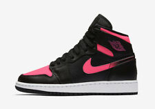 Nike Air Jordan I 1 Retro GS GG BLACK PINK VALENTINE'S DAY 332148-019 sz 8Y