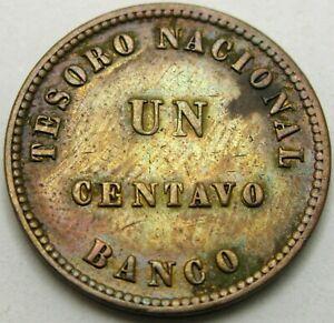 ARGENTINA (Confederation) 1 Centavo 1854 - Copper - XF - 1935 *