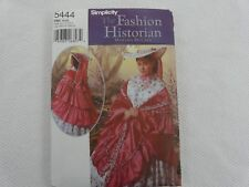 New Simplicity 5444 OOP CIVIL WAR HAT and MANTLE Sewing Pattern ALL SIZES