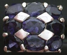 Natural Iolite Oval Gem Stone Gemstone Sterling Silver Ring Size 7 PSR253