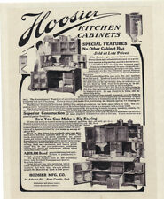 "HOOSIER Kitchen CABINETS Vintage 1906 with FLOUR BIN 8x10"" REPRINT AD Antique"