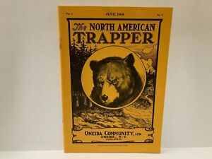 RARE The North American Trapper Jun 1904 Volume 1 Number 1 Oneida Community Book