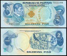ABL Philippines 2 Pesos Rizal FANCY Serial No TG 111444 Banknote