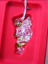 LENOX GRINCH UP THE CHIMNEY Crystal Ornament NEW in BOX