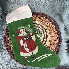 "Cotton /& Linen Pottery Barn Santa Claus Christmas Guest Towel 20/"" Square"