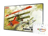 Fokker Dr.I German Fighter Aircraft WWI 1/72 Scale Plastic Model Kit RODEN 010