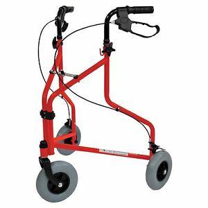 Aidapt Folding Steel Tri Walker, Walking Aid - Red (No Bag)