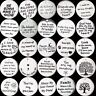 Handmade Carve Tibetan Silver Tag Letters Charms Pendants DIY Jewelry Making