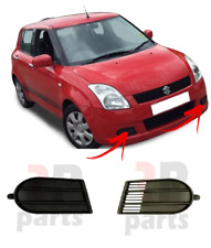 FOR SUZUKI SWIFT 2005 - 2007 FRONT BUMPER FOGLIGHT GRILLE COVER BLACK PAIR SET
