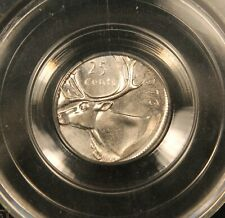 1976 Canada 25 Cents - ERROR struck on wrong 10 cents dime planchet. CCCS MS64
