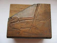 Antik Klischee Werbung Metall auf Holz Miele Staubsauger