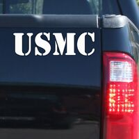 """USMC"" Military US Marine Patriotic Vinyl Decal Sticker - Car Truck Door Bumper"