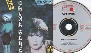 Fancy CD-SINGLE CHINA BLUE  ©  1987  CARDSLEEVE