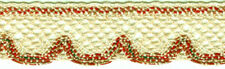 ENCAJE DE BOLILLOS 40mm Color Lino / Verde / rojo / gold 1 m