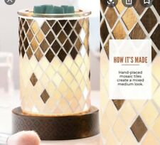 Scentsy GILDED Tart Wax Warmer Full Size - Gold MOSAIC Elegant~ NEW!