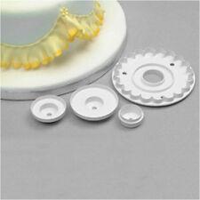 3pcs Garrett Frill Round Wavy Bead Cutter Plain Fondant Cake Decorating tools