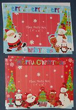 Christmas PhotoFrame 6 Cards & Envelopes Photo Frame Blanks 2 designs per pk