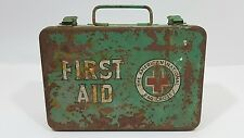 Vintage Red Cross First Aid Kit Medical Metal sealed supplies
