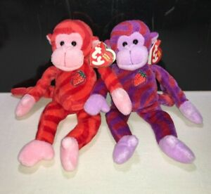 TY TWIRLY & TWISTY BEANIE BABIES WALGREENS EXCLUSIVE - NWMT Monkeys Twizlers
