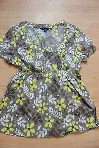 BODEN  floral crinkled cotton scoop neck top size 10 NEW