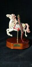 "Musical Carousel Horse Figurine Plays ""Memory"""