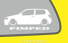 2x PIMPED Polo 6n2 facelift GTi TDi outline sticker LR305