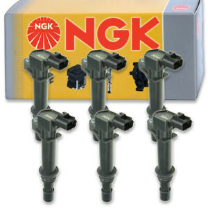 6 pcs NGK Ignition Coil for 2002-2008 Jeep Liberty 3.7L V6 - Spark Plug Tune vk