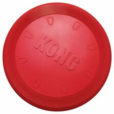 KONG Flyer Puppy Classic Frisbee Dog Rubber Durable Fetch Play Red