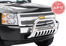APU Fits 2005-2018 Nissan Frontier Stainless LED Bull Bar Bumper Brush Guard