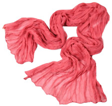 Scarf Shawl Wrap Crinkle Cotton Blend Voile Solid Jewel Tones SPECIAL PRICE!