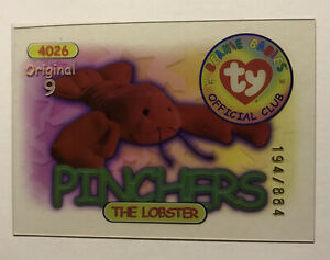 Ty Beanie Babies Series II S2 Collector Poster Shows All Cards For Complete Set