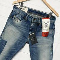 ⭐ Diesel Thommer stretch Slim fit patchwork denim jeans wash 009FK size W31 L32