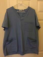 Landau Scrubs Top Unisex Blue 5 Pockets Large LGE A04