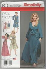 Simplicity Sewing Pattern 8013 Miss Retro '70's Dress in 2 Lengths Sz 14-22
